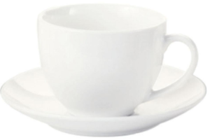 White Basics Cup and Saucer
